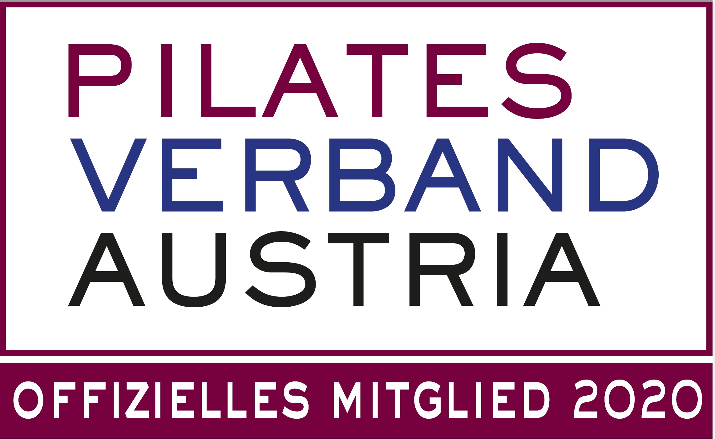 Maye riess Pilates Verband siegel 2020